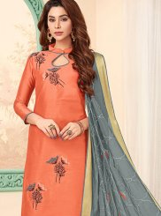 Peach Churidar Designer Suit