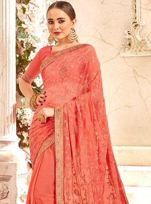 Peach Classic Designer Saree