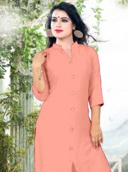 Peach Color Casual Kurti
