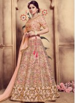 Peach Color Designer Lehenga Choli