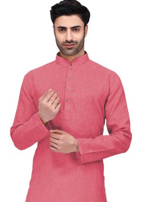 Peach Cotton Sangeet Kurta