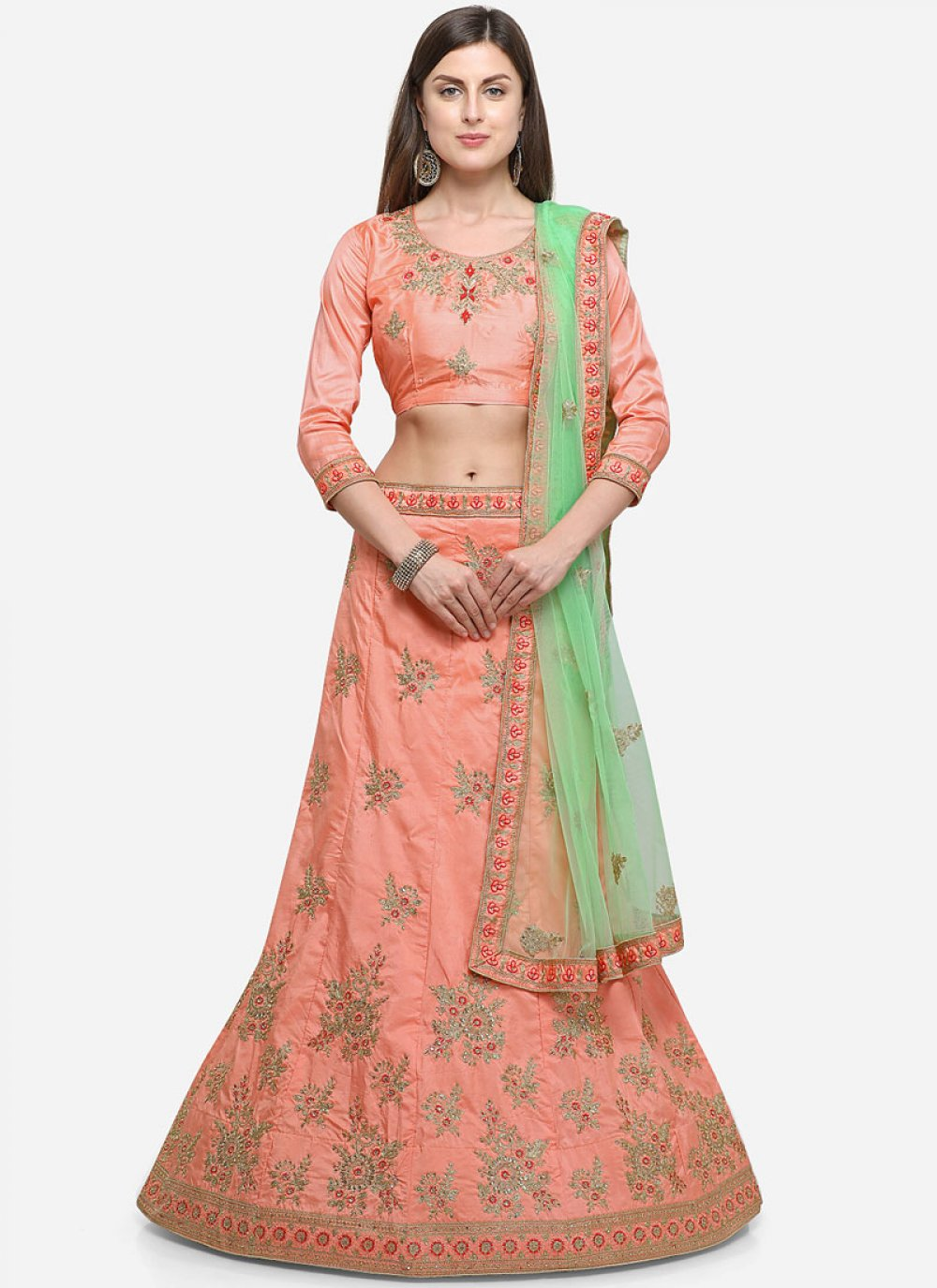 Peach Diamond Designer Lehenga Choli