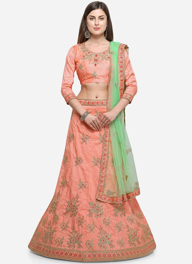 Peach Diamond Designer Lehenga Choli