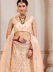 Peach Fancy Bridal Lehenga Choli