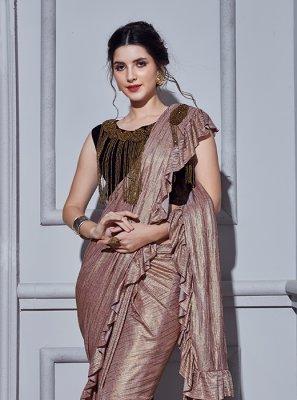 Peach Fancy Fancy Fabric Classic Designer Saree