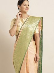 Peach Festival Art Silk Traditional Designer Saree
