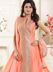 Peach Festival Chanderi Readymade Suit