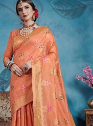 Peach Party Casual Saree