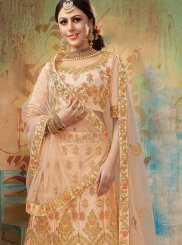 Peach Sangeet Trendy Lehenga Choli