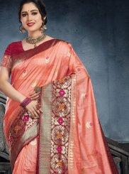Peach Silk Ceremonial Classic Saree