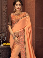 Peach Silk Classic Saree