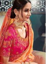 Peach Wedding Classic Saree