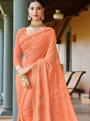 Peach Wedding Classic Saree