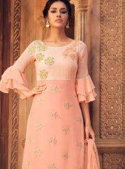 Peach Wedding Designer Palazzo Suit