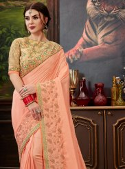 Peach Wedding Traditional Saree