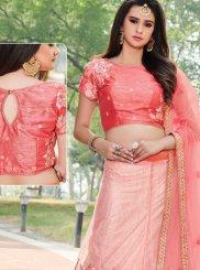 Peach Zari Work Designer Lehenga Choli