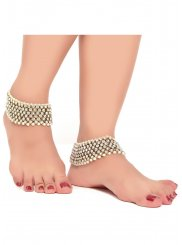 Pearls Anklet in White