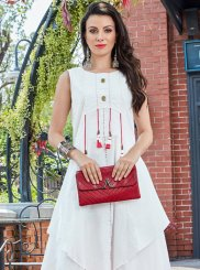 Pink and White Casual Kurti