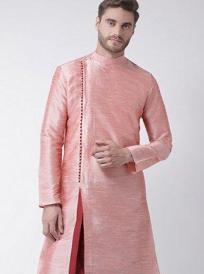 Pink Art Dupion Silk Kurta Pyjama