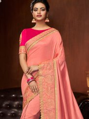 Pink Art Silk Designer Traditional Saree