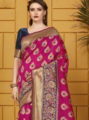 Pink Art Silk Festival Traditional Saree
