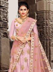 Pink Art Silk Sangeet Lehenga Choli