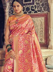Pink Art Silk Weaving Designer Traditional Saree
