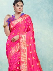 Pink Art Silk Weaving Traditional Designer Saree
