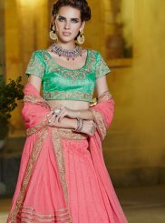Pink Banglori Silk Designer Lehenga Choli