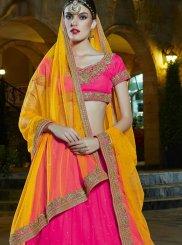Pink Banglori Silk Stone Work Designer Lehenga Choli