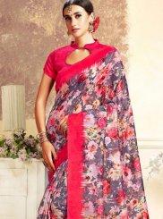 Pink Casual Traditional Saree