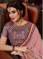 Pink Ceremonial Art Silk Designer Traditional Saree