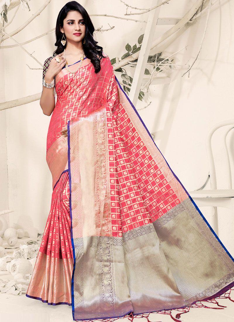 Pink Ceremonial Designer Traditional Saree