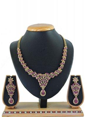 Pink Ceremonial Necklace Set