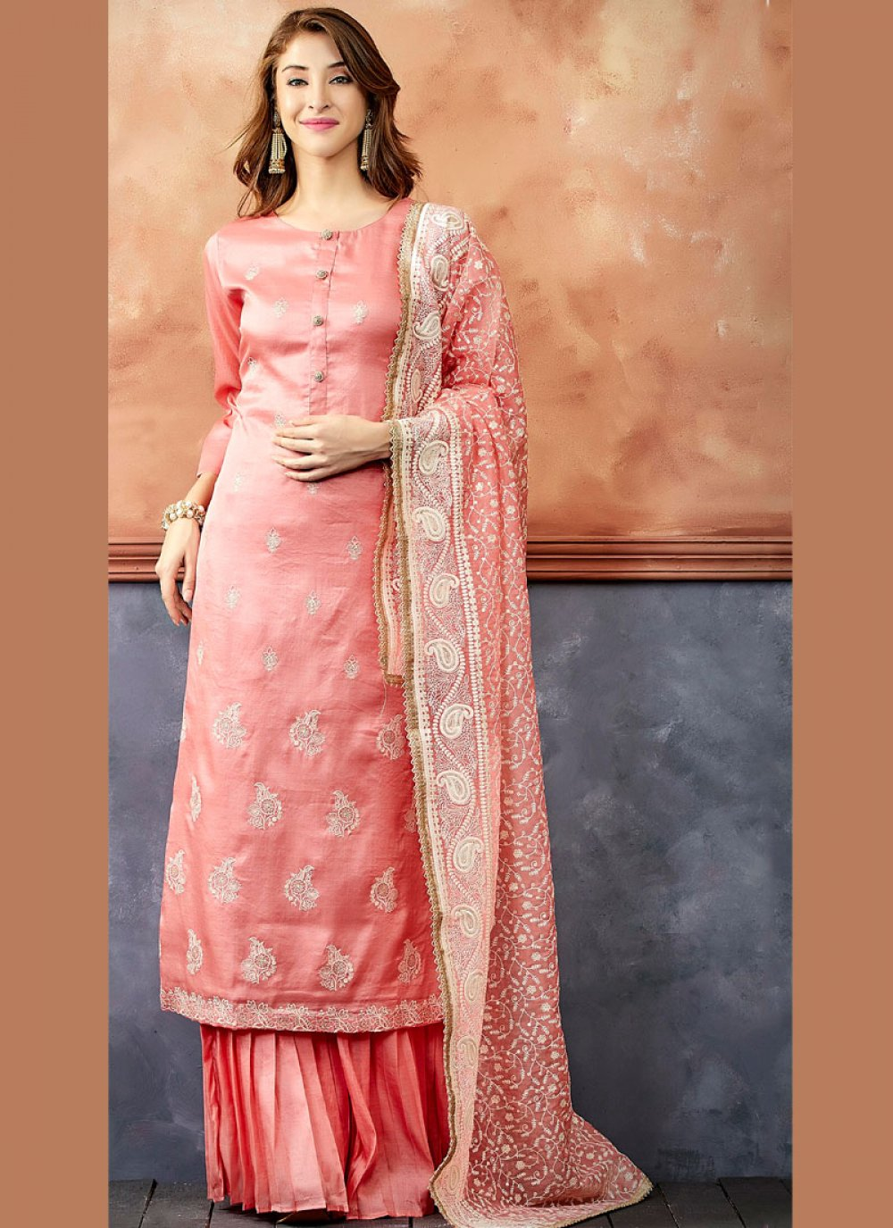 Pink Ceremonial Readymade Suit