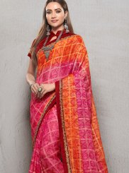 Pink Ceremonial Trendy Saree