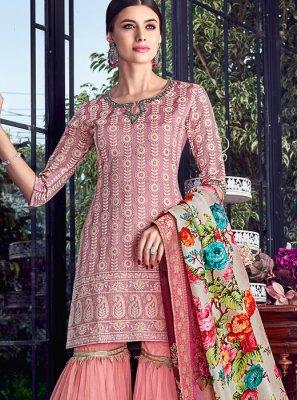 Pink Chanderi Designer Pakistani Suit