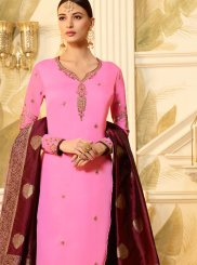 Pink Churidar Designer Suit