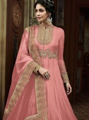 Pink Color Anarkali Salwar Kameez