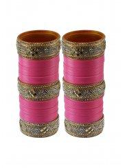 Pink Color Bangles