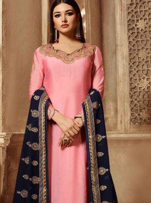 Pink Color Churidar Designer Suit