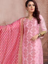 Pink Color Churidar Designer Suit
