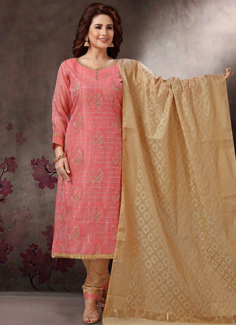 Pink Color Churidar Salwar Suit