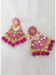 Pink Color Ear Rings