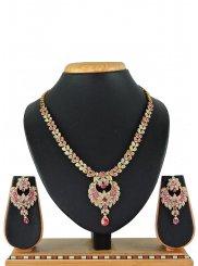 Pink Color Necklace Set