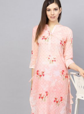 Pink Color Readymade Designer Suit