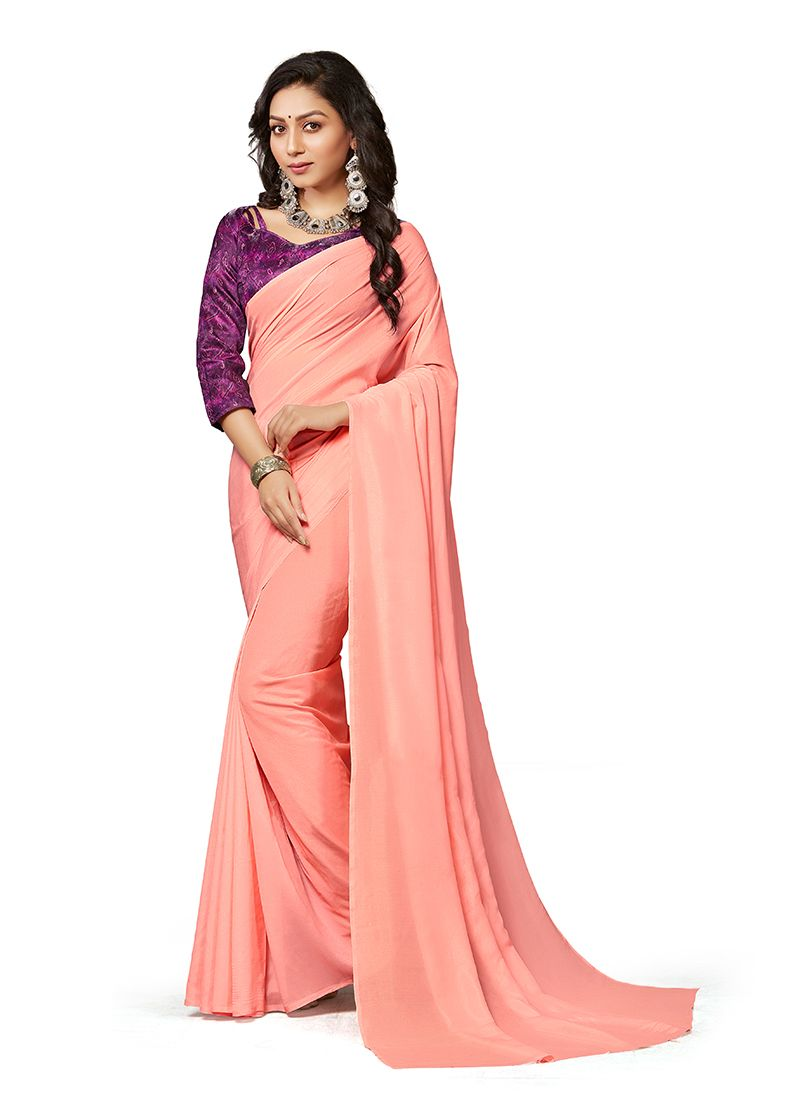 Pink Color Traditional Saree