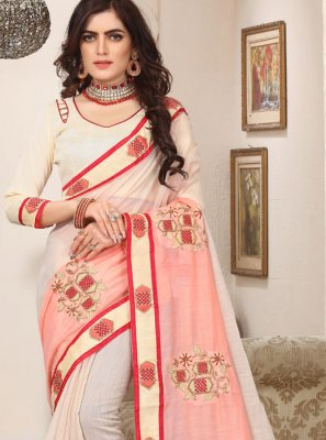 Pink Cotton Silk Trendy Saree