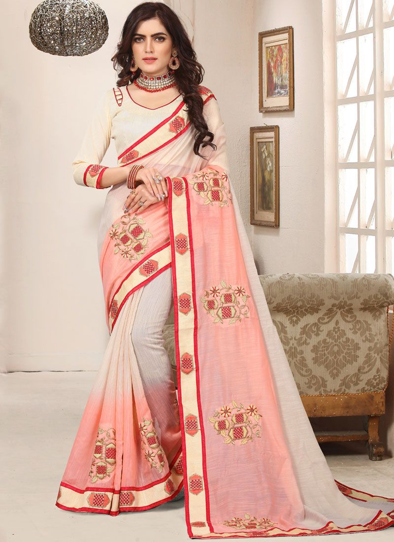 Pink Cotton Silk Trendy Saree
