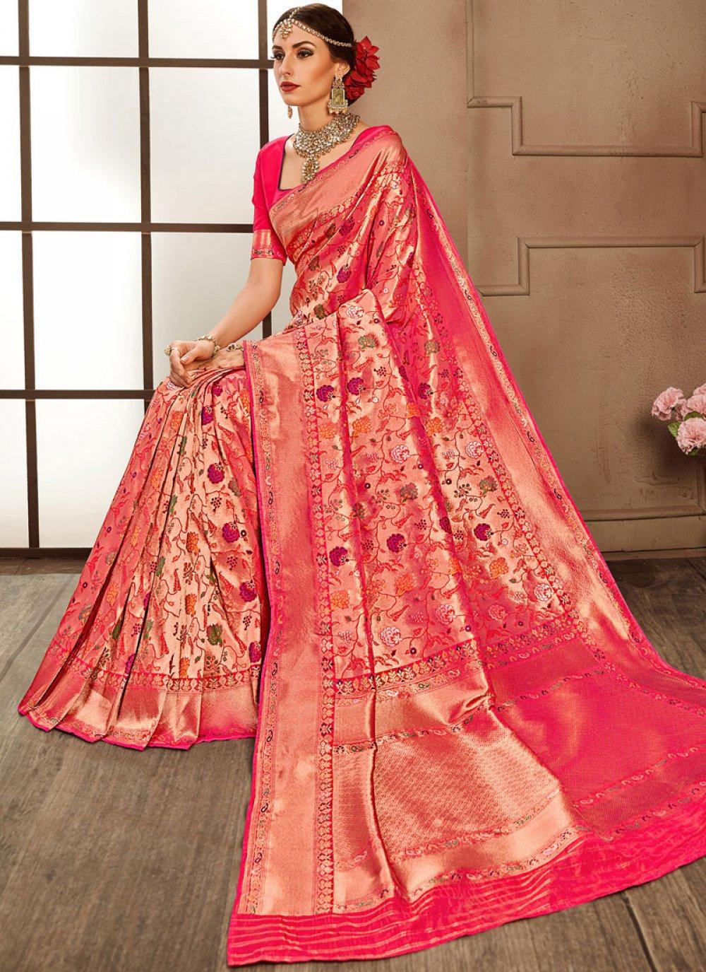 Pink Designer Bridal Sarees